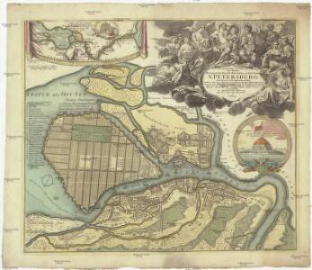 Topographische Vorstellung der neuen russischen Haupt-Residenz und See-Stadt St. Petersburg samt ihrer zu erst aufgerichten Vestu[n]g