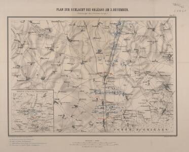 Plan zur Schlacht bei Orléans am 3. December