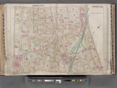 Jersey City, V. 1, Double Page Plate No. 15 [Map bounded by West Side Ave., Newark Ave., Summit Ave., Montgomery St.] / compiled under the direction of and published by G.M. Hopkins Co.