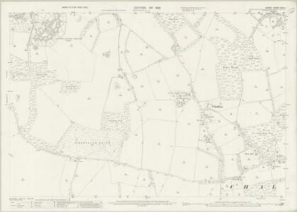 Surrey XXVII.1 (includes: Chaldon; Coulsdon; Merstham) - 25 Inch Map