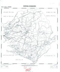 Sierra Leone 1 : 500,000. Chiefdom boundaries