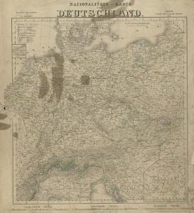 Nationalitäts-Karte Deutschland