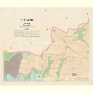 Plesche - c5827-1-001 - Kaiserpflichtexemplar der Landkarten des stabilen Katasters
