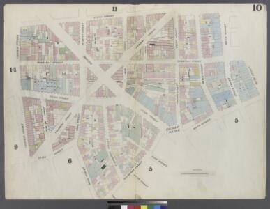 [Plate 10: Map bounded by Chatham Street, James Street, South Street, Dover Street, Franklin Square, Frankfort Street, Fose Street, Duane Street]