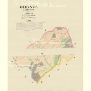 Ohrnes (Jaborny) - m1056-1-001 - Kaiserpflichtexemplar der Landkarten des stabilen Katasters