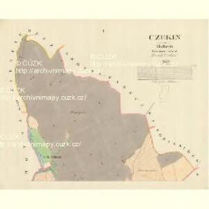 Czekin - m0362-1-001 - Kaiserpflichtexemplar der Landkarten des stabilen Katasters