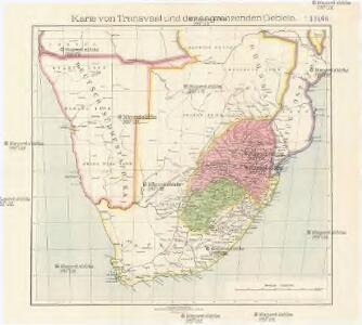 Karte von Transvaal und der angrenzenden Gebiete