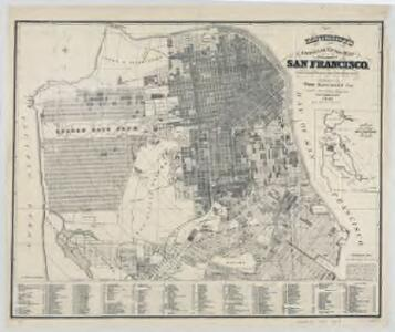 Bancroft's official guide map of city and county of San Francisco : compiled from official maps in surveyor's office