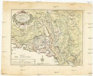 Carte de la partie d'Albanie occupé par le Bacha de Scutari. le District des Montenegrins, et partie des territoires des Rep. de Venise, et de Raguse