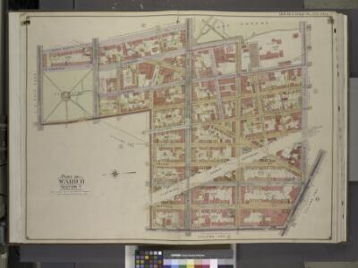 Brooklyn, Vol. 2, Double Page Plate No. 1; Part of    Ward 11, Section 7; [Map bounded by North Elliott PL., St. Edwards St., Raymond  St., Dekalb Ave.; Including  Fulton St., Bridge St., Johnson St., Navy St.,      Flushing Ave.]