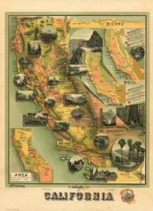 The Unique Map Of California.