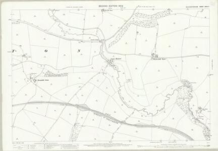 Gloucestershire XXVIII.7 (includes: Aston Blank; Naunton; Upper Slaughter) - 25 Inch Map