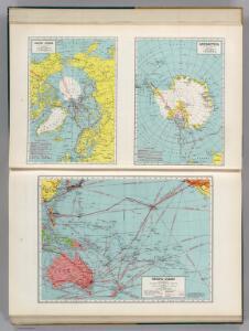 Arctic Ocean.  Antarctica.  Pacific Ocean.