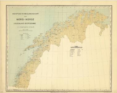Geistlig inndelingskart over Nord-Norge, Hålogaland Bispedømme