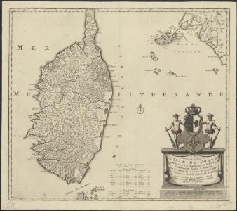 Nouvelle carte de l'isle de Corse : apartenante a la Republique de Genes, presentement divisée & soulevée, sous les ordres du Baron de Neuhoff, elu Roy sous le nom de Theodore Premier