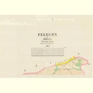 Felbern - c8826-1-001 - Kaiserpflichtexemplar der Landkarten des stabilen Katasters