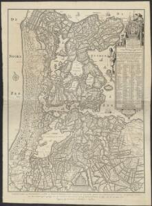 Vernieuwde kaart van Noordholland en Westfriesland, benevens het voornaamste gedeelte van Rhynland en daar aan grenzende landen