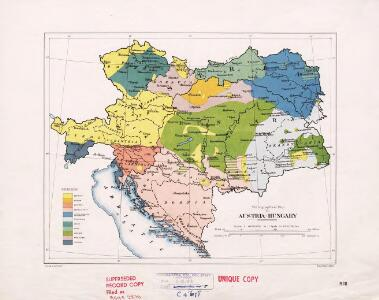 Ethnographical map of Austria-Hungary. 1918