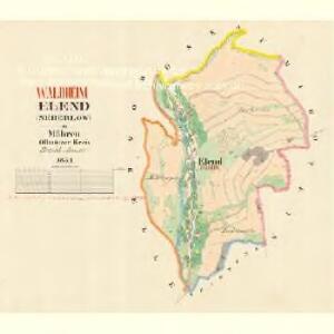 Elend (Neberlow) - m1955-1-001 - Kaiserpflichtexemplar der Landkarten des stabilen Katasters