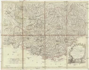 Carte de la Provence du comtat Venaissin et de la principauté d'Orange