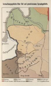 Verwaltungsgebiet Ober Ost und geschlossene Sprachgebiete
