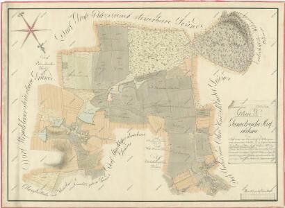 Geometrický plán lesů, rybníků, činžovních a deputátních pozemků dvora Štipoklasy 1