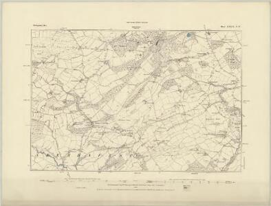 Montgomeryshire XVI.NW - OS Six-Inch Map