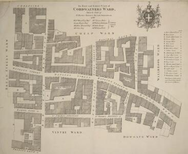 An Exact and Correct PLAN of CORDWAINERS WARD Taken by Order of S.r HENRY BANKES Kn.t And ALDERMAN 1768.