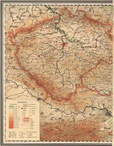 Nástěnná mapa Československé republiky