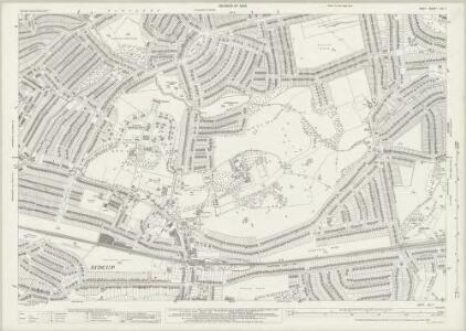 Kent VIII.7 (includes: Bexley; Chislehurst and Sidcup) - 25 Inch Map