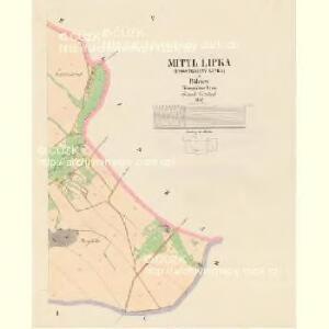 Mittl Lipka (Prostredny Lipka) - c6132-1-005 - Kaiserpflichtexemplar der Landkarten des stabilen Katasters