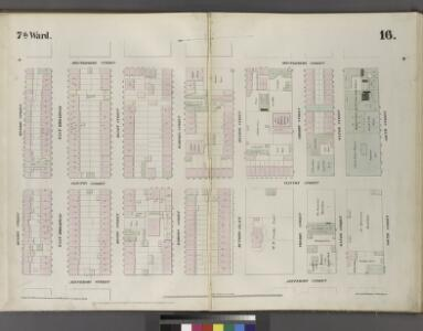 Plate 16: Map bounded by Division Street, Montgomery Street, South Street, Jefferson Street.