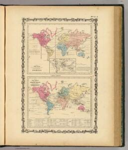 Map of The World Showing ... The Animal Kingdom ... Commerce And Navigation.