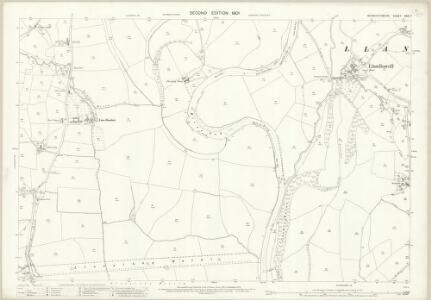 Monmouthshire XXIV.7 (includes: Llanbadog Fawr; Llangybi Fawr; Llantrisaint Fawr) - 25 Inch Map