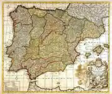 Novissima et accuratissima regnorum Hispaniæ et Portugalliæ tabula
