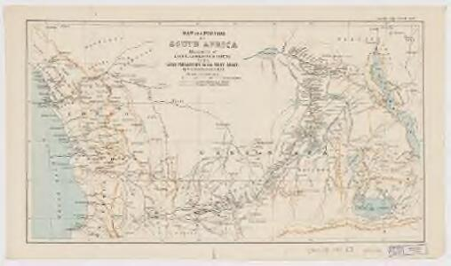 Map of a portion of South Africa : illustrative of Lieut. Cameron's route from lake Tangayika to the west coast
