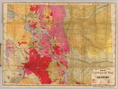 Rand, McNally & Co.'s new geological map of Colorado.