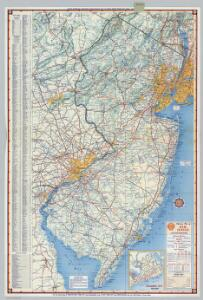 Shell Highway Map of New Jersey.