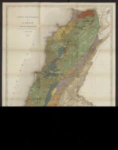 Carte géologique du Liban