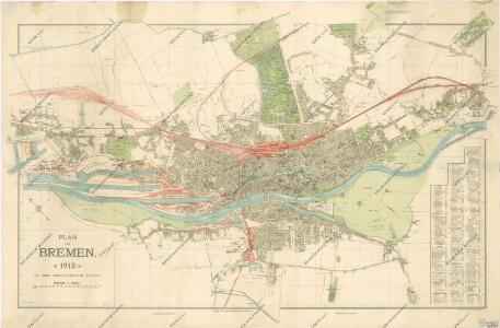 Plan von Bremen