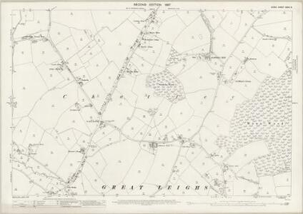 Essex (1st Ed/Rev 1862-96) XXXIV.9 (includes: Great and Little Leighs) - 25 Inch Map