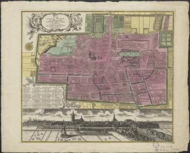 Plan de la Haye en Hollande, contenant ses places, palais et edifices