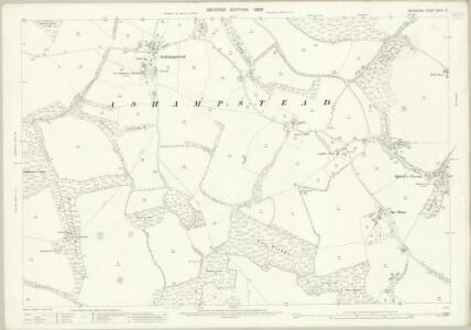 Berkshire XXVIII.9 (includes: Ashampstead; Basildon; Hampstead Norris; Yattendon) - 25 Inch Map