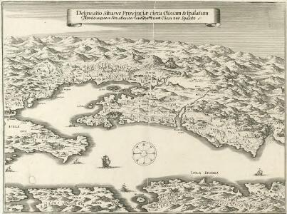 Delineatio Situsve Provinciae circa Clissam & Spalatum
