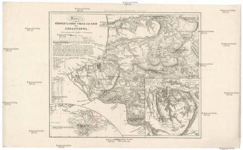 Karte von südwestlichen Theile der Krim mit Sebastopol