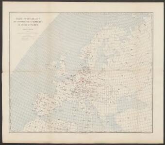 Carte demonstrative des determinations astronomiques de latitude et d'azimuth