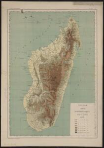 Madagascar, carte hypsométrique