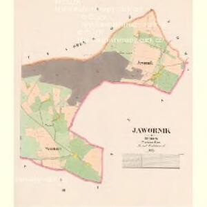 Jawornik - c2796-1-002 - Kaiserpflichtexemplar der Landkarten des stabilen Katasters