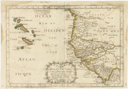 Isles de Cap Verd coste, et pays des Negres