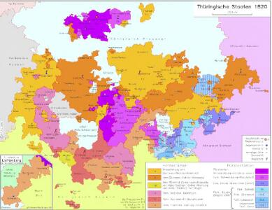 Thüringische Staaten 1820